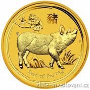 Investiční zlatá mince rok Vepře 2019-lunární série II.