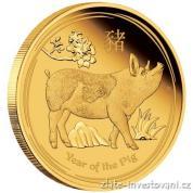 Investiční zlatá mince rok Vepře 2019-lunární série II. - proof