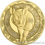 Zlatá mince lunární rok Vepře 2019 proof-Francie