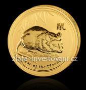 Investiční zlatá mince rok Krysy 2008-lunární serie II