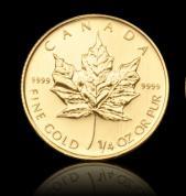Investiční zlatá mince Kanadský Maple Leaf