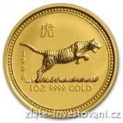 Investiční zlatá mince rok Tygra 1998-lunární serie I
