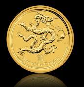 Investiční zlatá mince rok draka 2012-lunární série II.