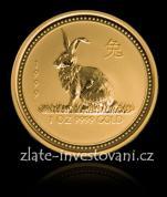Investiční zlatá mince rok Králíka 1999-lunární serie 1
