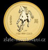 Investiční zlatá mince rok koně 2002-lunární série 1