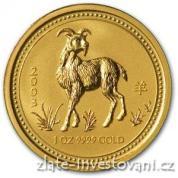 Investiční zlatá mince rok Kozy 2003-lunární série 1