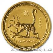 Investiční zlatá mince rok Opice 2004-lunární série 1