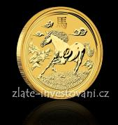 Investiční zlatá mince rok koně 2014-lunární série č.2
