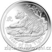 Investiční stříbrná mince rok tygra 2010