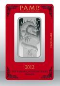 Investiční stříbrná cihla PAMP Rok draka 2012