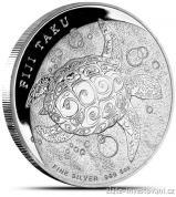 Investiční stříbrná mince želvička Taku