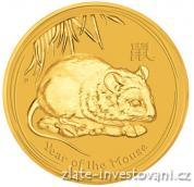 Investiční zlatá mince rok Myši 2008-lunární serie II