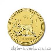 Investiční zlatá mince rok opice 2004