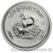Investiční stříbrná mince rok kozy 2003