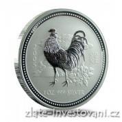 Investiční stříbrná mince rok kohouta 2005