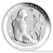 Investiční platinová mince ptakopysk-Austrálie