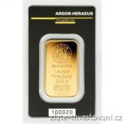 Investiční zlatá cihla Argor Heraeus