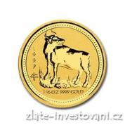 Investiční zlatá mince rok Buvola 1997