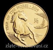 Investiční zlatá mince lunární rok koně 2014-Royal Mint