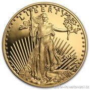 Investiční zlatá mince americký Eagle 2014-proof