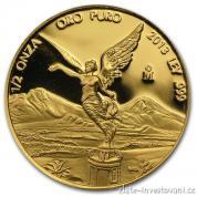 Investiční zlatá mince mexický Libertad-proof