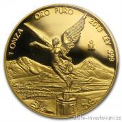 Investiční zlatá mince Libertad-proof