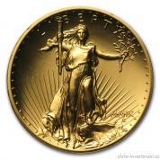 Investiční zlatá mince americký double Eagle 2009-ultra vysoký reliéf