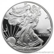 Investiční stříbrný americký Eagle -proof