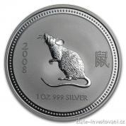 Stříbrná mince rok myši -lunární série I.