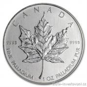 Investiční paládiová mince kanadský Maple leaf