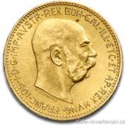 Investiční zlatá mince rakouská Dvacetikoruna-novoražba