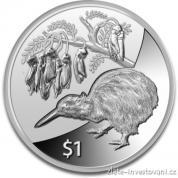 Investiční stříbrná mince Kiwi 2012