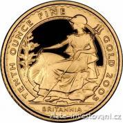 Investiční zlatá mince Britannia-proof