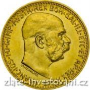 Investiční zlatá mince-rakouská Desetikoruna-novoražba 1912