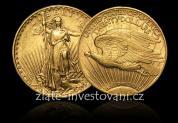 Investiční zlatá mince americký double Eagle 1910 Saint-Gaudens Double Eagle