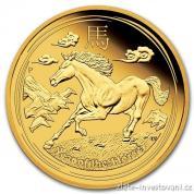 Investiční zlatá mince rok koně 2014-proof