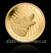 Investiční zlatá mince Vlk 2014-série volání divočiny