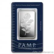 Investiční stříbrná cihla PAMP-růže