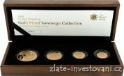 Zlatý investiční set mincí Sovereign-proof-4 mince