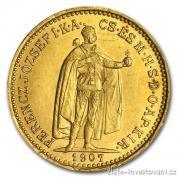 Zlatá mince  Desetikoruna Františka Josefa I.- uherská ražba 1893 KB