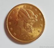 Investiční zlatá mince americký double Eagle-Liberty 1907