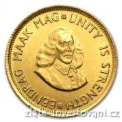 Investiční zlatá mince jihoafrický 2 rand