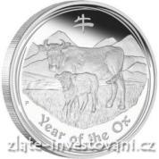Investiční stříbrná mince rok buvola 2009