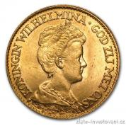 Zlatá mince 5 guldenů-Wilhelmina