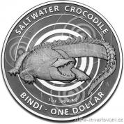 Investiční stříbrná mince krokodýl Bindi-2013