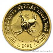 Investiční zlatá mince australský nugget-2002