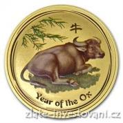 Investiční zlatá mince rok Buvola 2009-kolorovaná verze