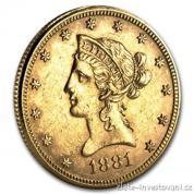 Zlatá mince americký Liberty Eagle-10 dolarů
