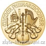 Investiční zlatá mince rakouský Philharmoniker 2014
