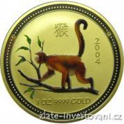 Zlatá mince rok opice 2004-lunární série 1